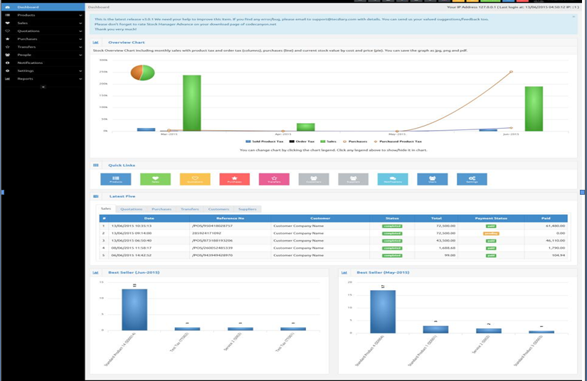 Digiventory Dashboard: Best inventory management software India